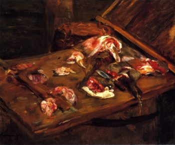 Table with Pieces of Meat | Max Liebermann | oil painting