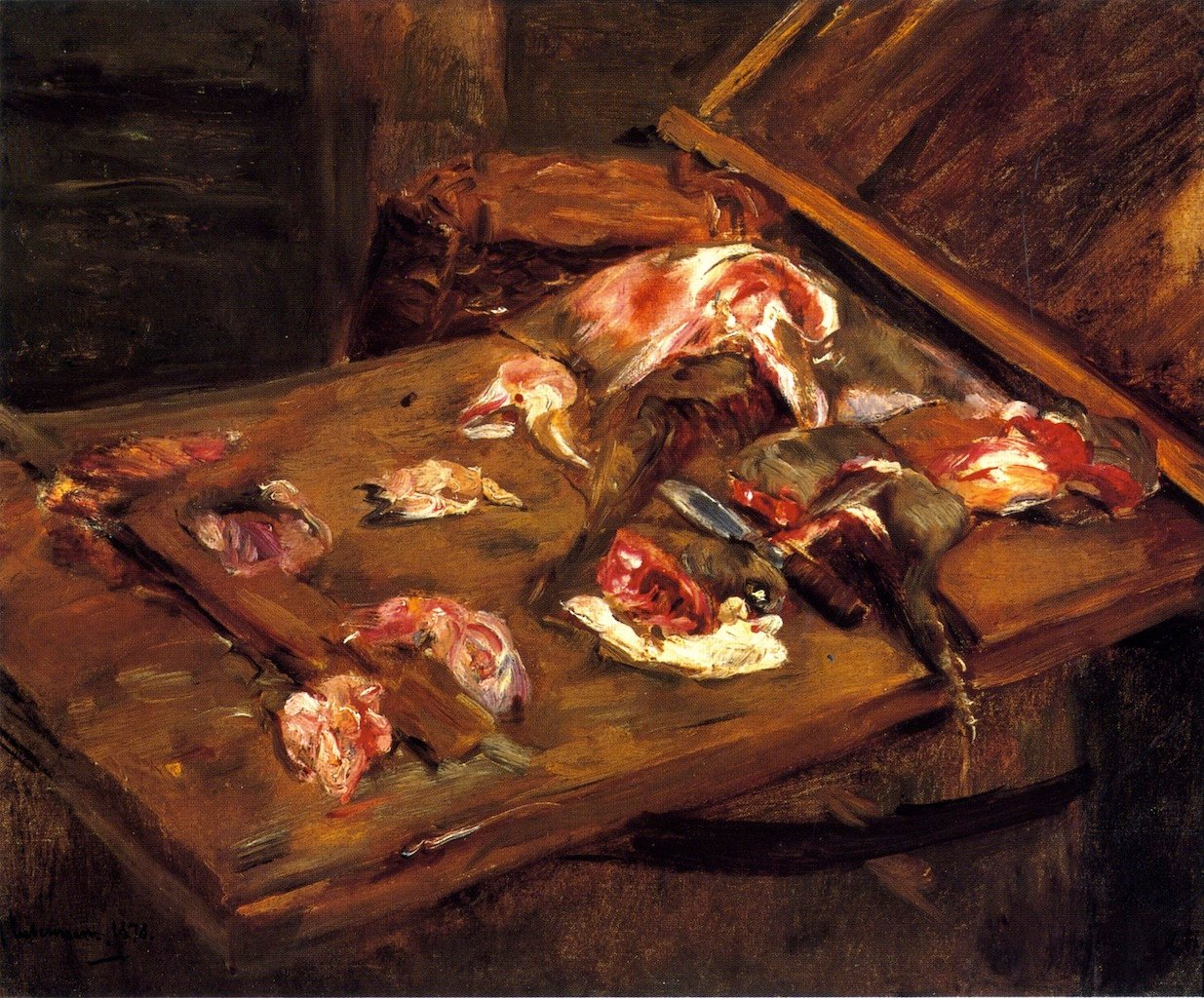 Table-with-Pieces-of-Meat-Max-Liebermann