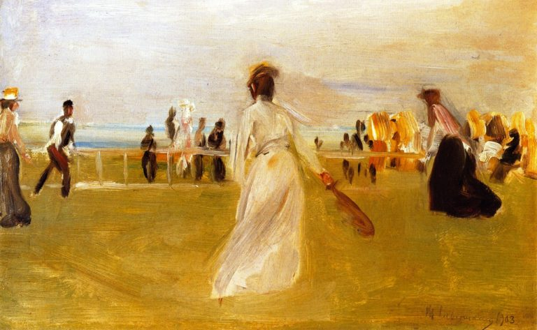 Tennis Game by the Sea | Max Liebermann | oil painting