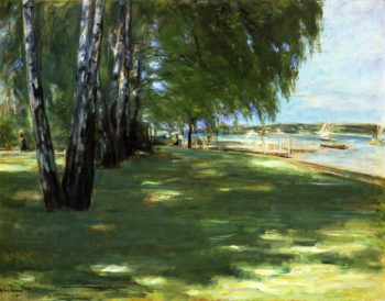 The Artist's Garden in Wannsee Birch Trees by the Lake | Max Liebermann | oil painting