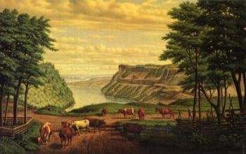 Cattle Grazing by The Niagara River | Levi Wells Prentice | oil painting