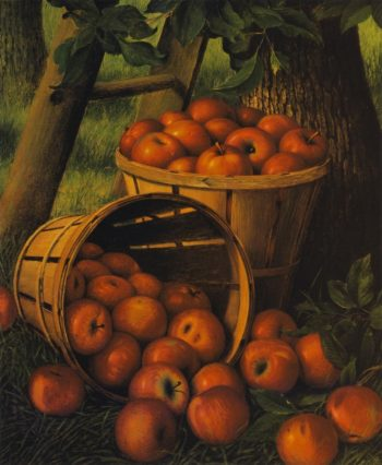Bushels of Apples under a Tree | Levi Wells Prentice | oil painting