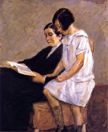 The Artist's Wife and Granddaughter | Max Liebermann | oil painting
