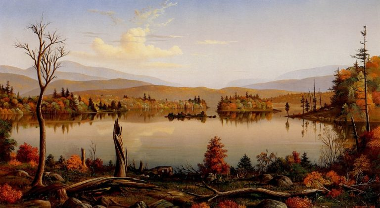 Blue Mountain Lake Adirondacks | Levi Wells Prentice | oil painting