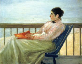 The Artist's Wife at the Beach | Max Liebermann | oil painting