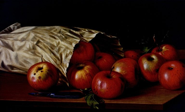 Bag of Apples | Levi Wells Prentice | oil painting