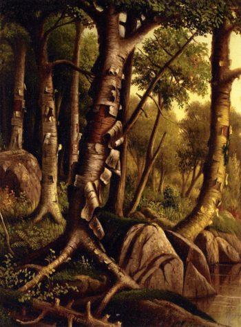 Birch Trees | Levi Wells Prentice | oil painting