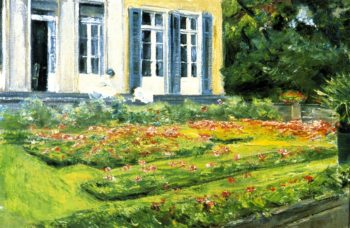 The Flower Terrace in the Wannsee Garden Facing Northwes | Max Liebermann | oil painting