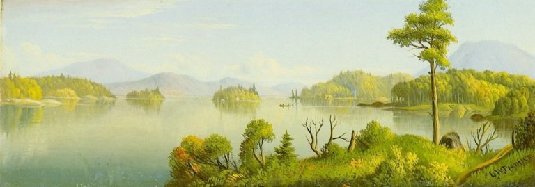 Big Tupper Lake Mr Morris in the Distance | Levi Wells Prentice | oil painting