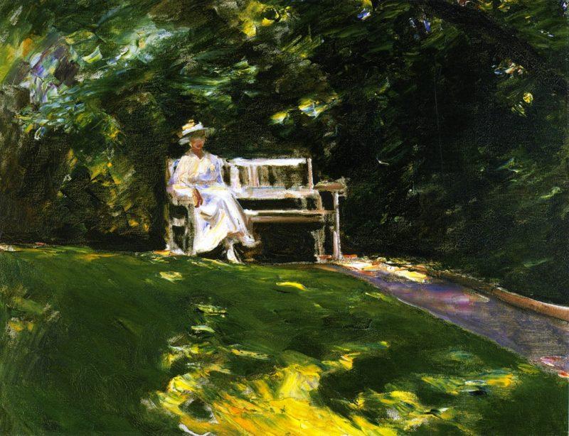 The Garden Bench | Max Liebermann | oil painting
