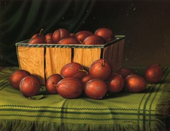Basket of Plums | Levi Wells Prentice | oil painting