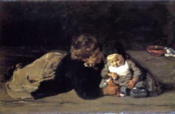 The Siblings | Max Liebermann | oil painting