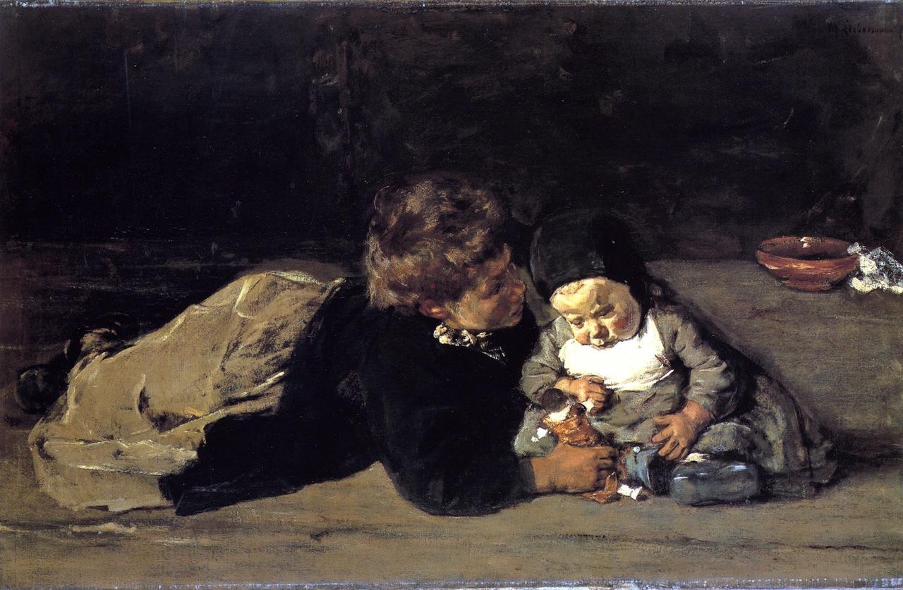 The Siblings Painting   Max Liebermann Oil Paintings