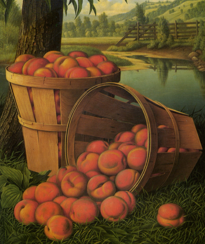 Basket of Peaches 2 | Levi Wells Prentice | oil painting