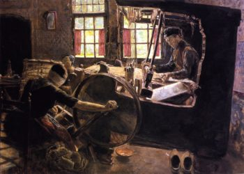 The Weaver | Max Liebermann | oil painting