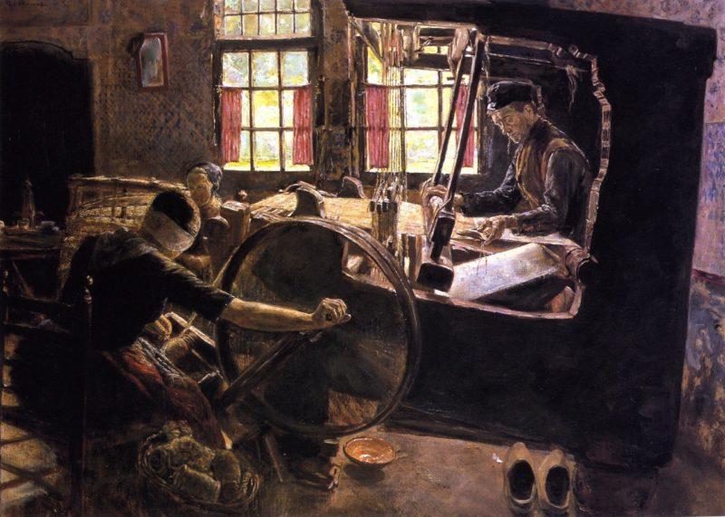 The Weaver   Max Liebermann   oil painting