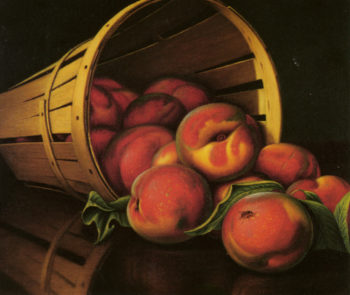 Basket of Peaches | Levi Wells Prentice | oil painting