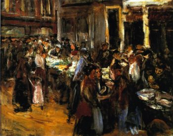 Vegetable Market in Amsterdam | Max Liebermann | oil painting