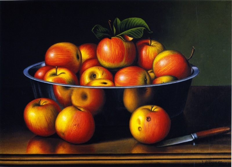 Apples in a Tin Pan | Levi Wells Prentice | oil painting