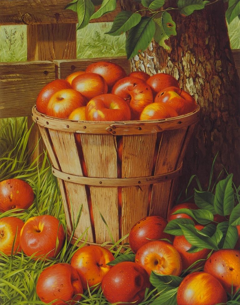 Apples in a Basket | Levi Wells Prentice | oil painting