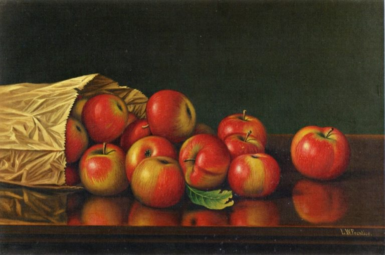 Apples   Levi Wells Prentice   oil painting