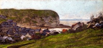 Yport and the Falaise d'Aval | Claude Oscar Monet | oil painting