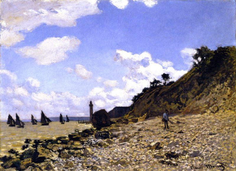The Beach at Honfleur   Claude Oscar Monet   oil painting