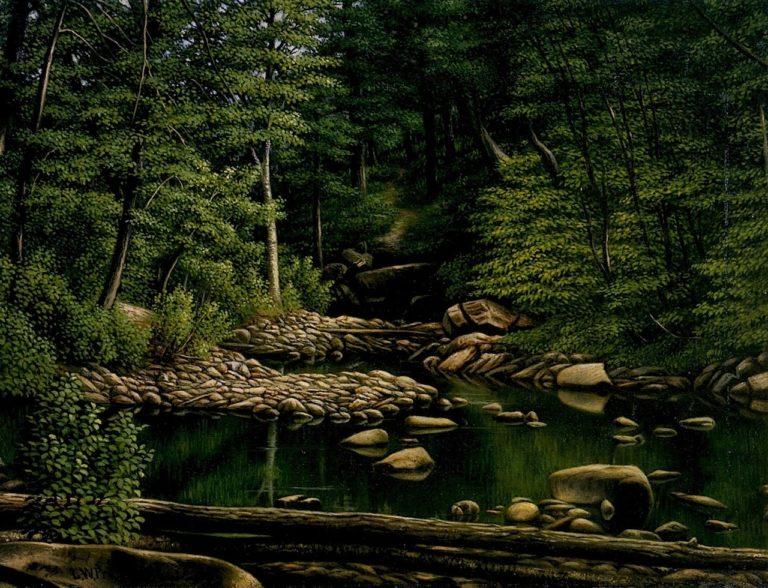 Above Beardsley Park Bridgeport Connecticut | Levi Wells Prentice | oil painting