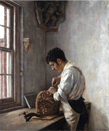 The Wood Carver | Edgar Melville Ward | oil painting