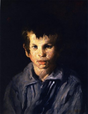Cross Eyed Boy | George Wesley Bellows | oil painting