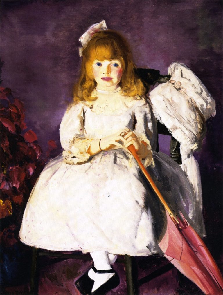 Anne with Her Parasol | George Wesley Bellows | oil painting