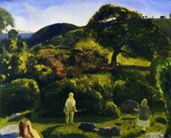 Children and Summer among the Shrubs | George Wesley Bellows | oil painting