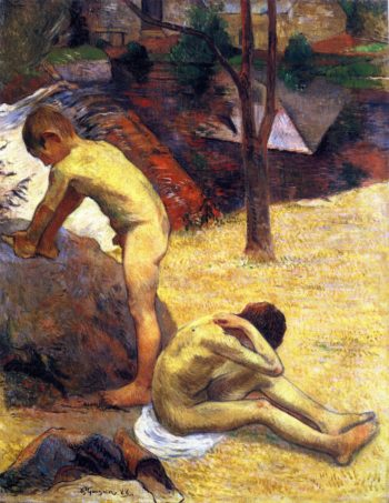 Young Breton Bathers | Paul Gauguin | oil painting