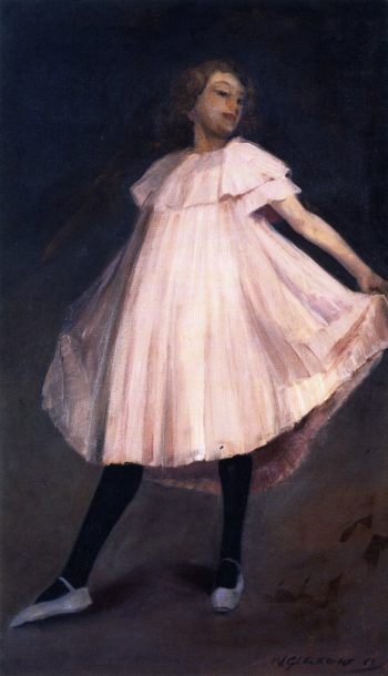 Dancer in Pink Dress | William James Glackens | oil painting