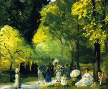 Little May Day Procession | William James Glackens | oil painting
