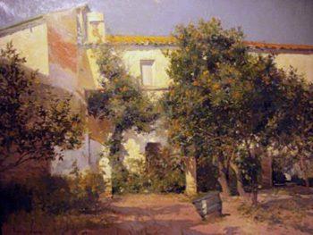 Casa con Huerto | Eliseo Meifren i Roig | oil painting