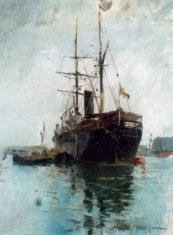 El barco | Eliseo Meifren i Roig | oil painting