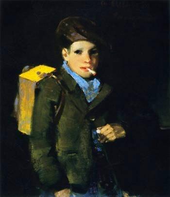 Shoeshine Boy | George Benjamin Luks | oil painting