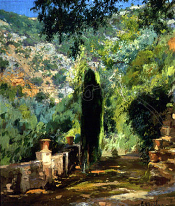 Jardin | Eliseo Meifren i Roig | oil painting