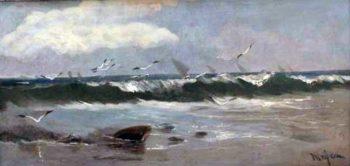 Mar con olas | Eliseo Meifren i Roig | oil painting