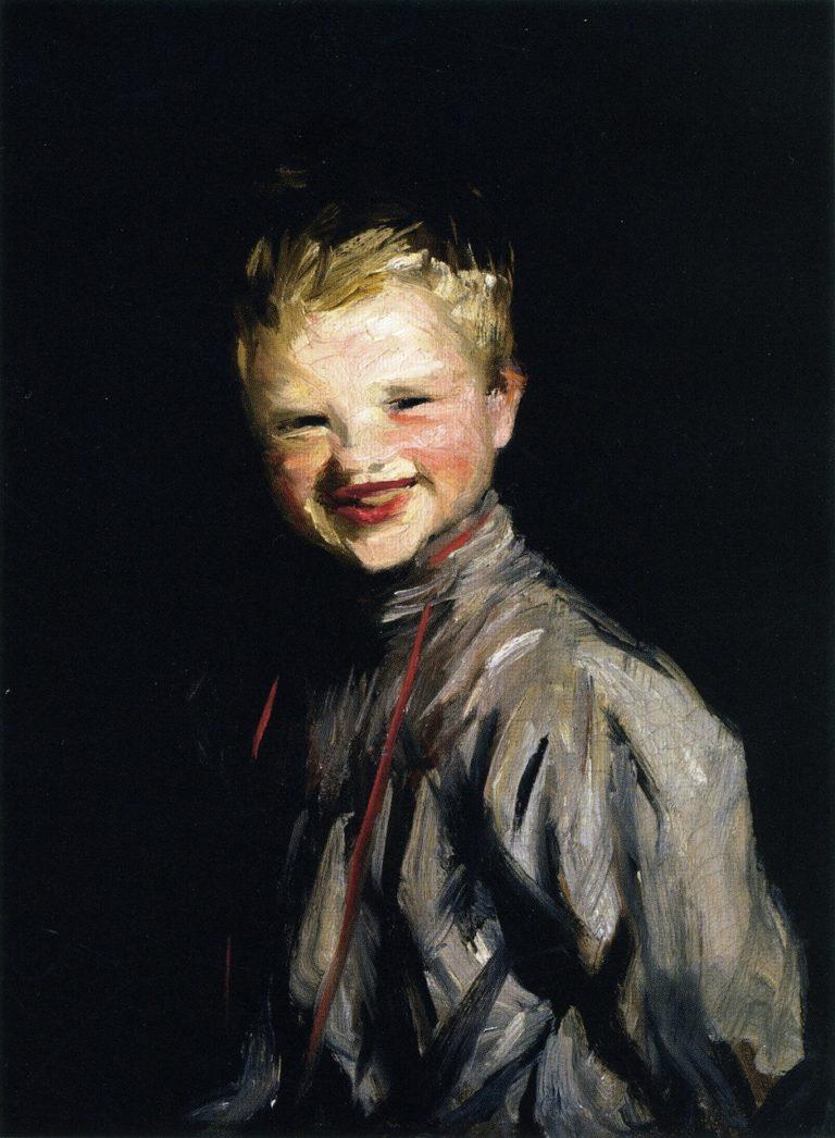 Cori Laughing | Robert Henri | oil painting