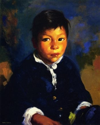 Little Half Breed | Robert Henri | oil painting
