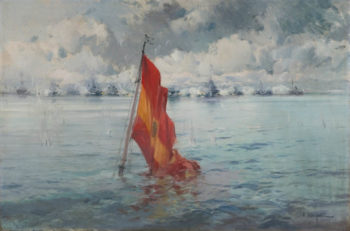 Marina con Bandera | Eliseo Meifren i Roig | oil painting
