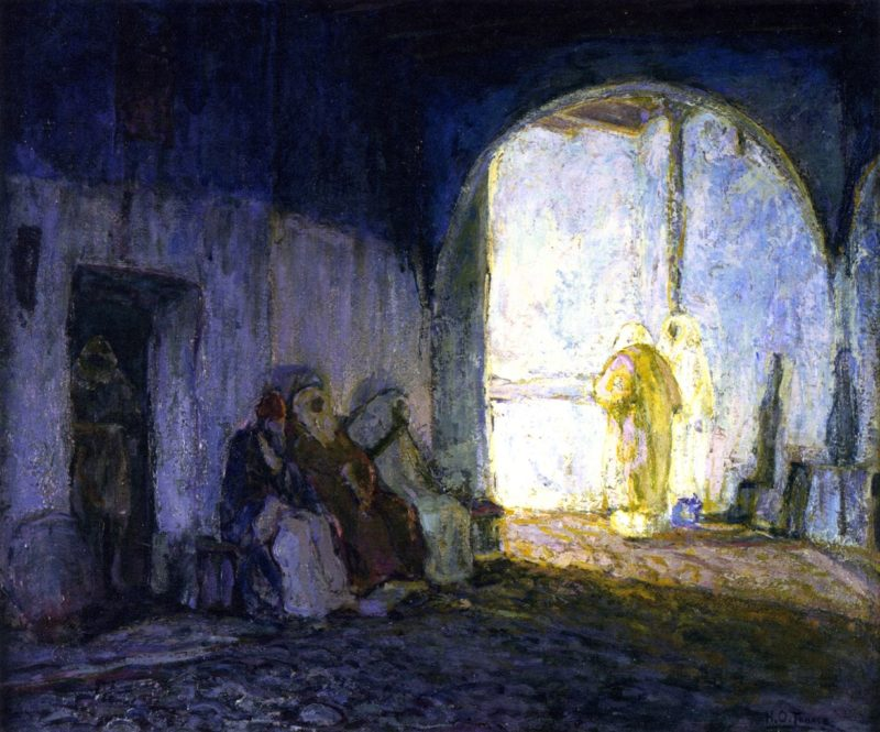 Street Scene Tangiers   Henry Ossawa Tanner   oil painting