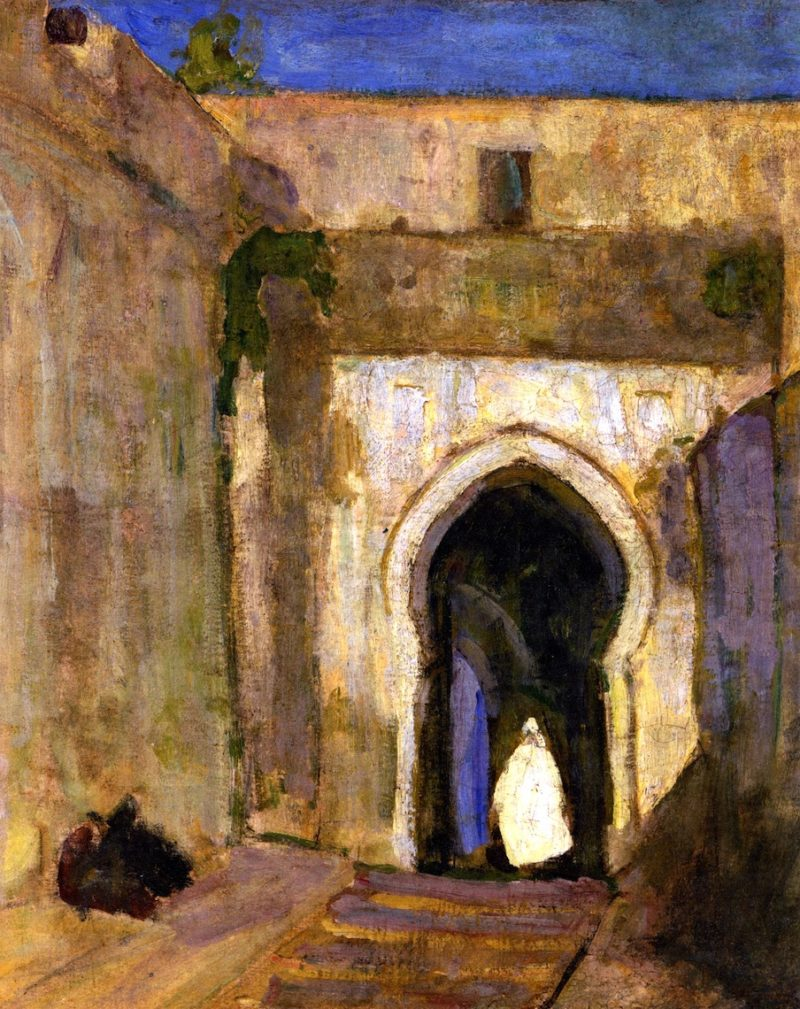 Gateway Tangier   Henry Ossawa Tanner   oil painting
