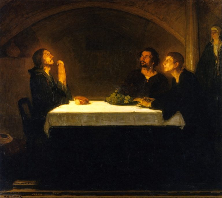 The Pilgrims of Emmaus | Henry Ossawa Tanner | oil painting