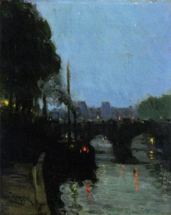 The Seine Evening | Henry Ossawa Tanner | oil painting