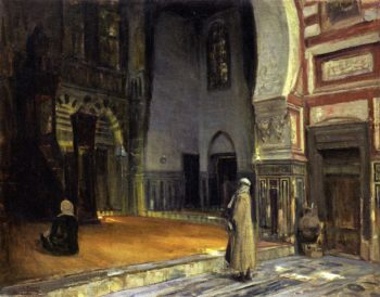Interior of a Mosque Cairo | Henry Ossawa Tanner | oil painting