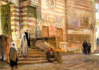 A Mosque in Cairo | Henry Ossawa Tanner | oil painting