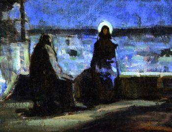 Study for Nicodemus Visiting Jesus | Henry Ossawa Tanner | oil painting